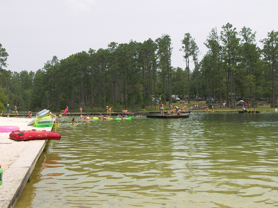 Swimming area at Krul Recreation Area