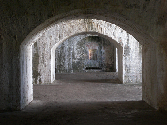 Inside the old fort