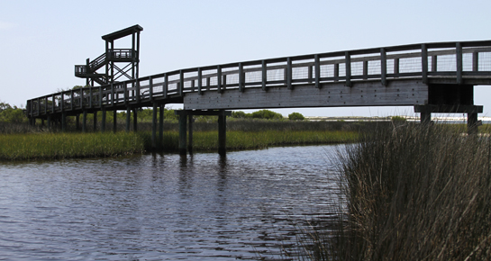 Foot bridge at big lagoon