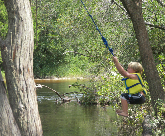 Plan a fun family river trip outdoor gulf coast of for Rope swing plans
