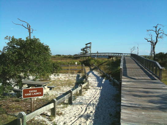 Boardwalk with Observation tower and Kayak Launch
