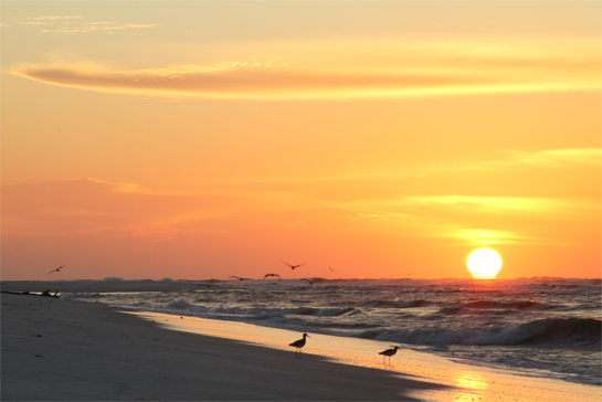 Sunrise at Fort Pickens