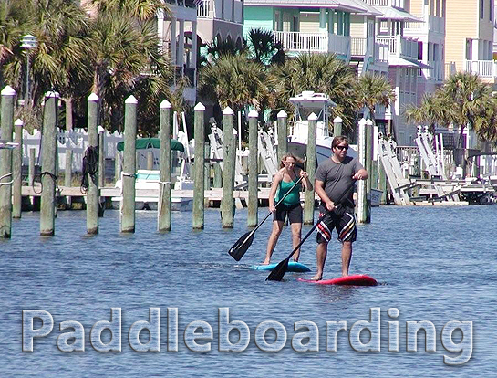 Paddleboarding on Pensacola Beach