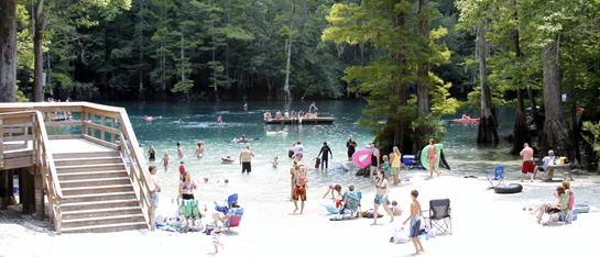 Beach area at Morrison Springs