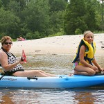 Sherry and S kayaking
