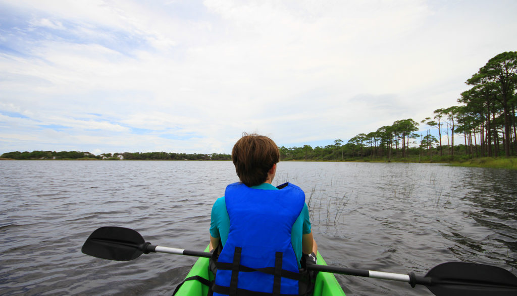 Kayaking on Lake Campbell