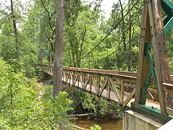Sweetwater Trail suspension bridge