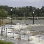 Pensacola bay at visitor information center