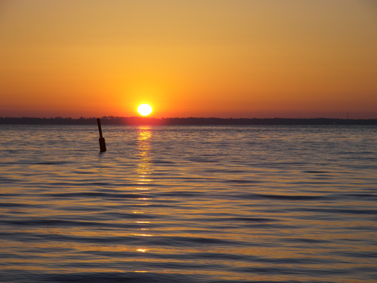 Sunrise over Escambia Bay