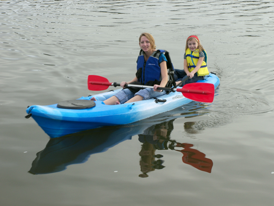 Kayaking with daughter on Bayou Texar