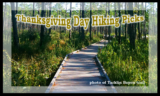 Thanksgiving day hiking picks
