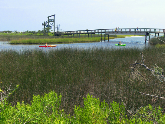 Big lagoon kayaking and observation tower