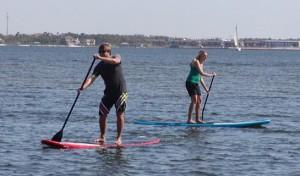 Lindy & I paddleboarding