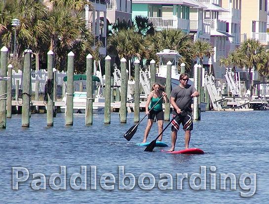 Paddleboarding on Pensacola Beach
