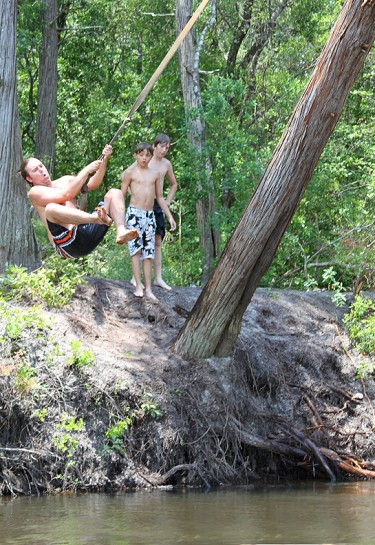Shawn on Rope Swing