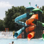 Pool slide at Roger Scott