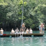 Swimming platform at Morrison Springs