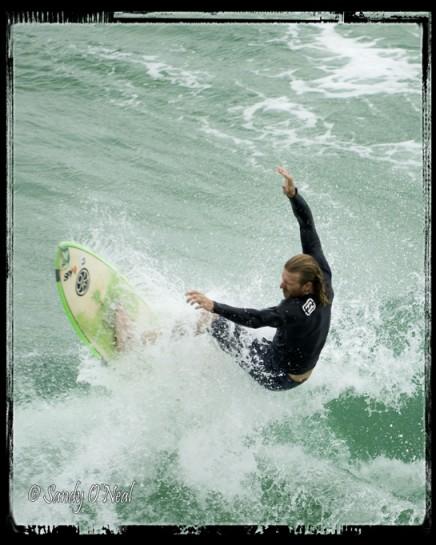 Surfing at Navarre Beach