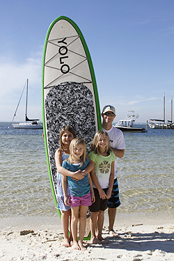Kids with Kevin of Coastal Paddle Co