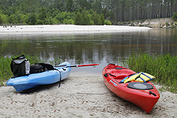 Kayaks on Blackwater River