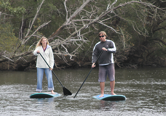 Shawn and Lindy Paddleboarding