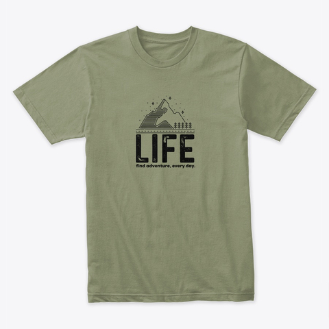 Life outdoors t-shirt