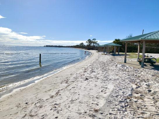 Beach area at Shoreline Park