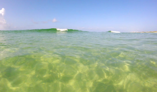 Emerald water on the Gulf