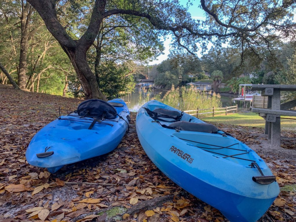 Kayaks at Woodland Park