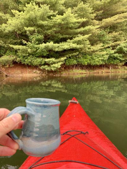 Kayak and coffee