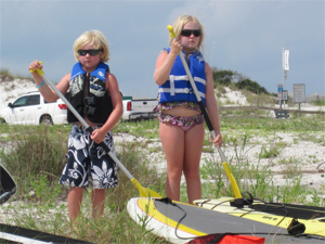 Paddleboards and kids