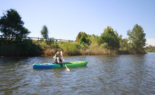 Lindy Kayaking at Bagdad