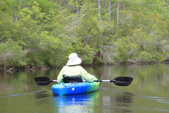 Lindy kayaking