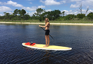 Lindy on paddleboard