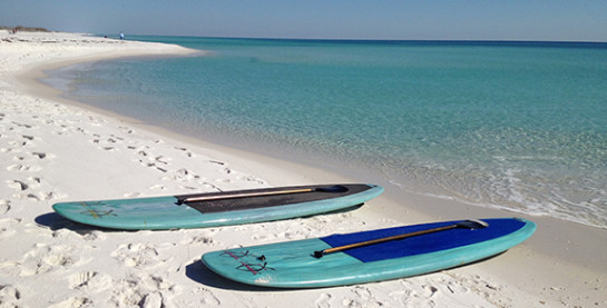 Paddleboards on Beach