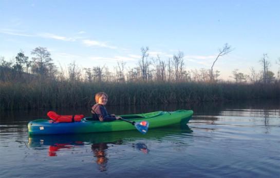 son-kayaking