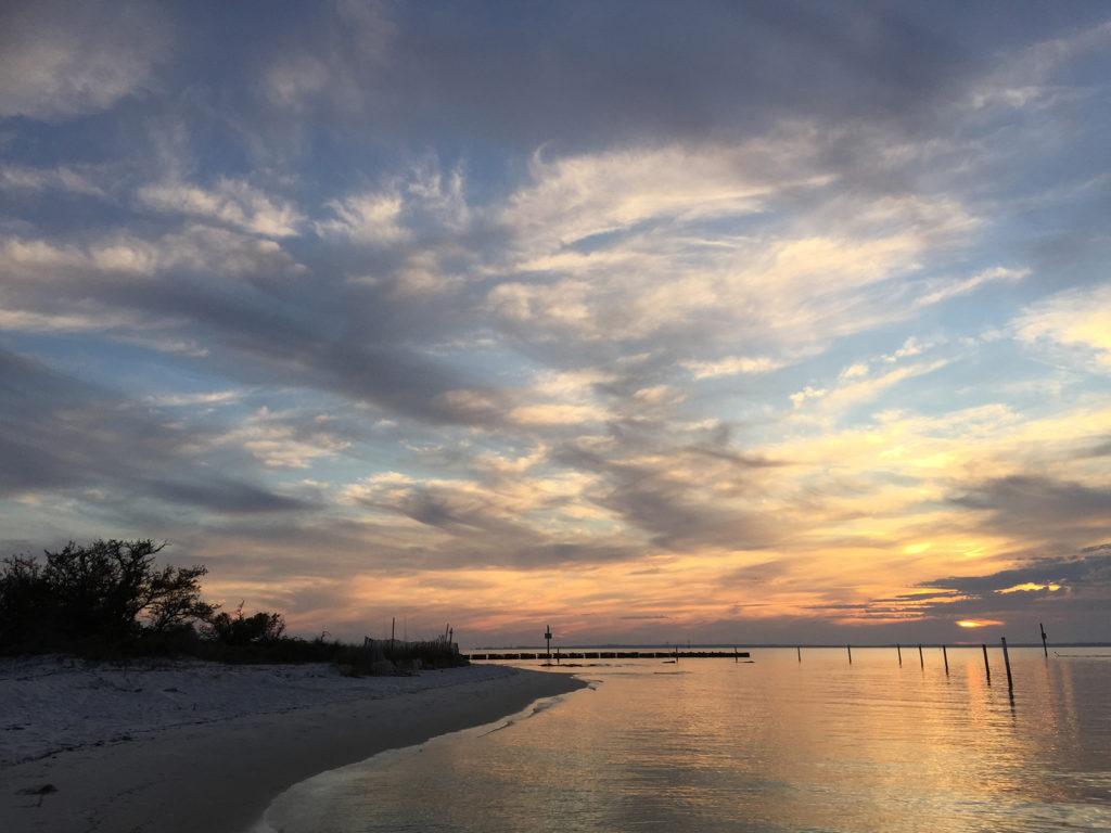 Sunset at Deadman's Island