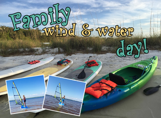 wind and water day on Pensacola Beach